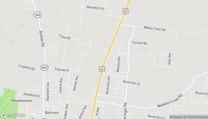 Mapa de 2017A N Locust Avenue en Lawrenceburg