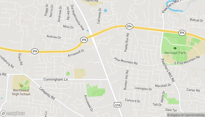 Map of 1661 Ft. Campbell Blvd in Clarksville