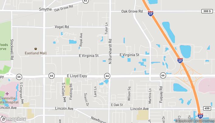 Map of 330 N. Burkhardt Rd in Evansville