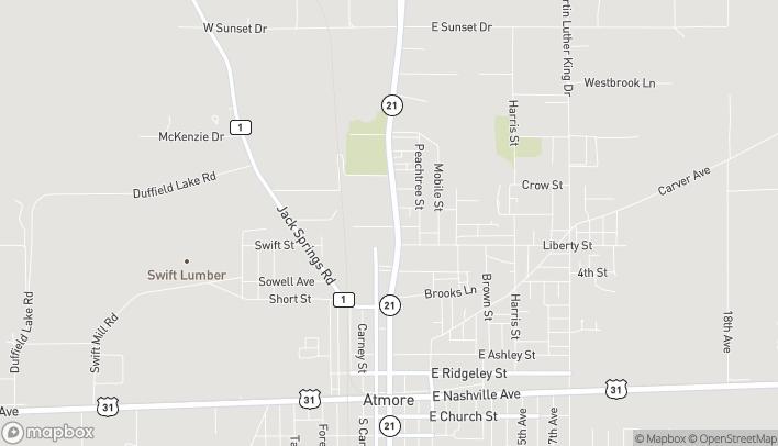 Map of 813 N Main Street in Atmore