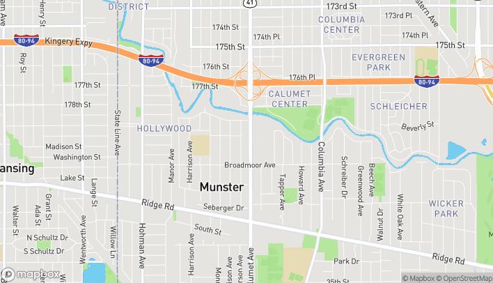 Mapa de 7940 Calumet Ave en Munster