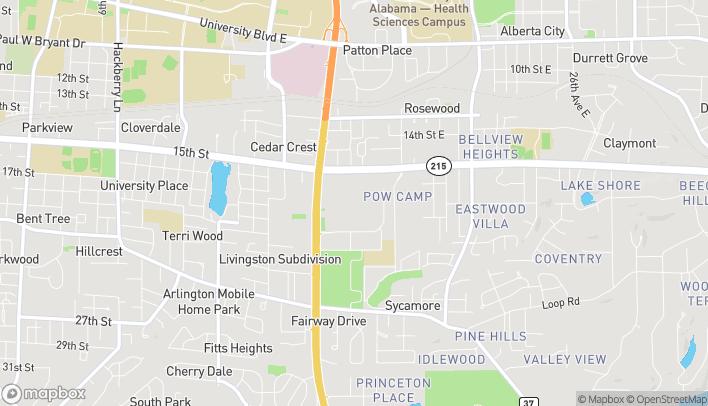 Map of 1701 McFarland Blvd E in Tuscaloosa