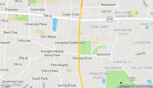 Mapa de 2200 McFarland Blvd en Tuscaloosa
