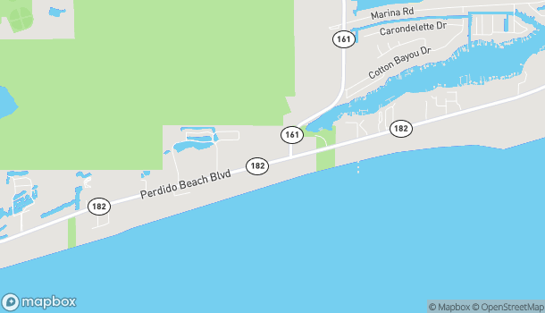 Mapa de 25773 Perdido Beach Blvd en Orange Beach