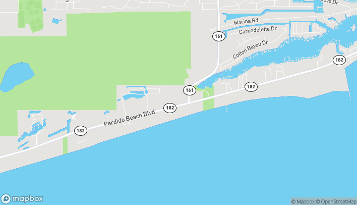 Map of 25773 Perdido Beach Blvd in Orange Beach