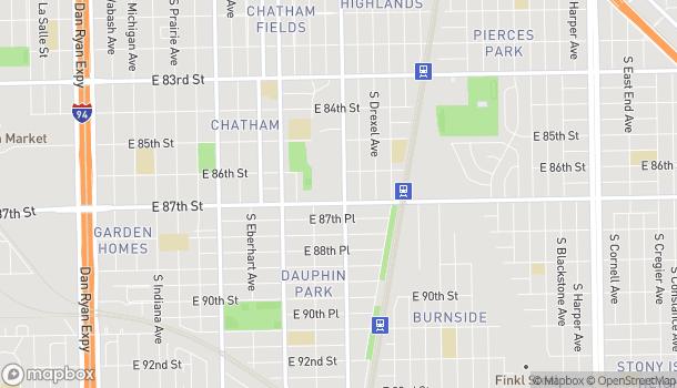 Mapa de 8658 S Cottage Grove en Chicago