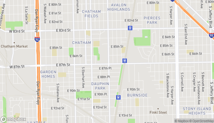 Map of 8658 S Cottage Grove in Chicago