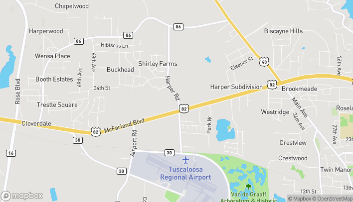 Map of 5550 McFarland Blvd in Northport