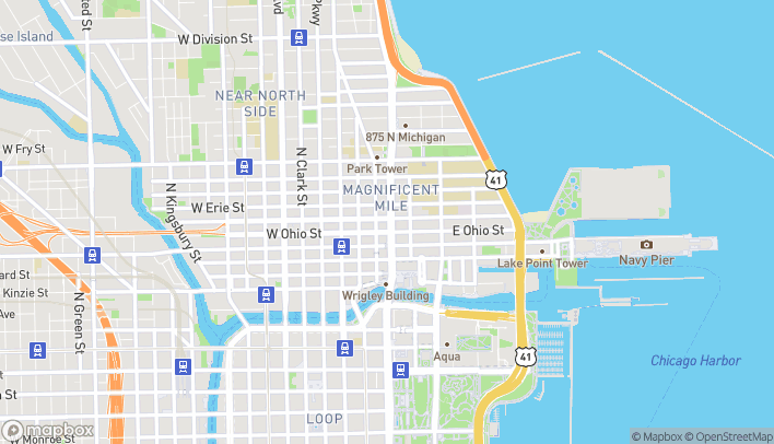 Map of 600 North Michigan Avenue in Chicago