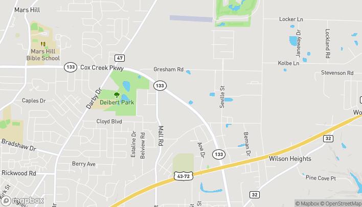Mapa de 349 Cox Creek Pkwy en Florence