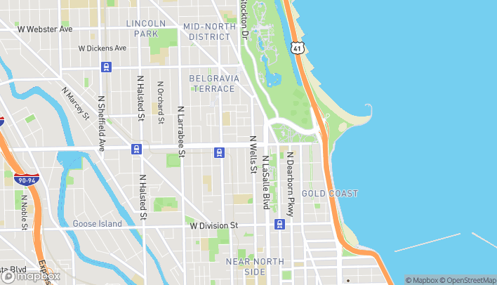 Map of 220 W North Ave in Chicago