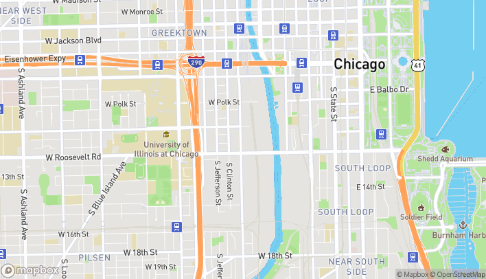 Map of 1101 S Canal St in Chicago