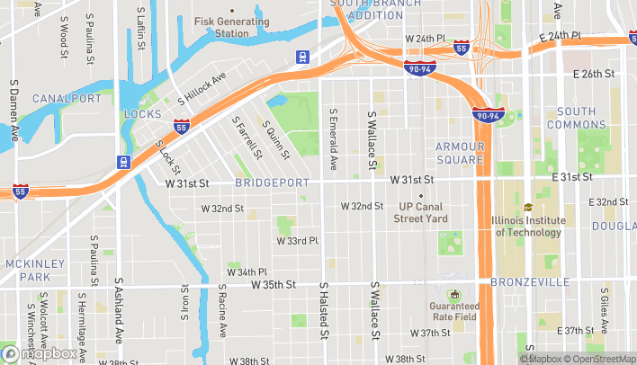 Map of 3100 S Halsted St in Chicago