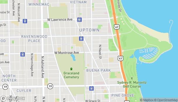 Mapa de 4414 N. Broadway Street en Chicago