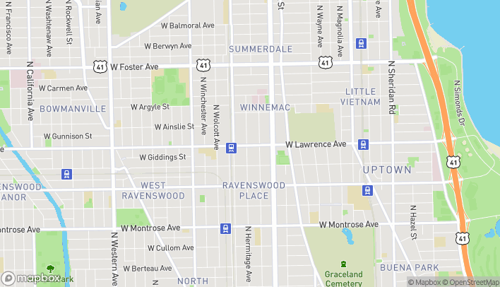 Map of 1724 W Lawrence Avenue in Chicago