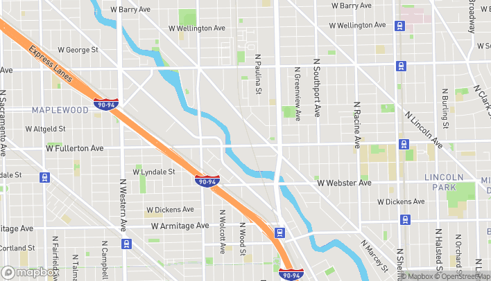 Map of 1730 W. Fullerton Ave in Chicago