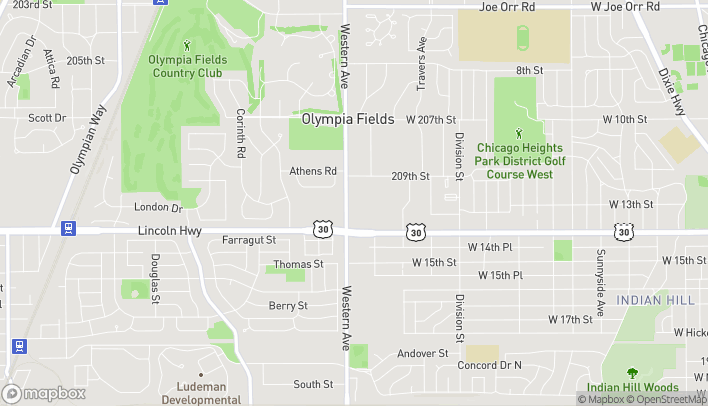Mapa de 20923 S Western Ave en Chicago Heights