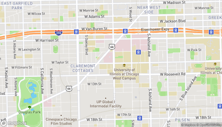 Map of 717 S Seeley Ave in Chicago
