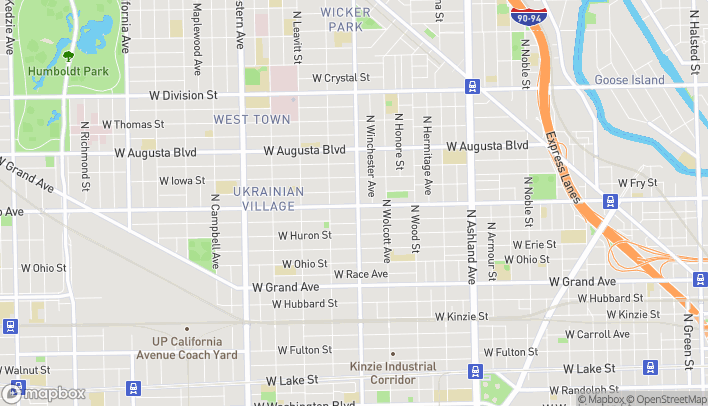 Map of 2006 W Chicago Ave in Chicago