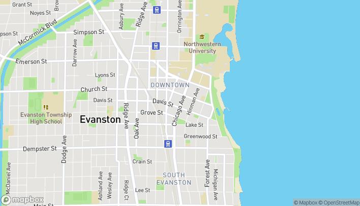 Map of 1620 Chicago Avenue in Evanston