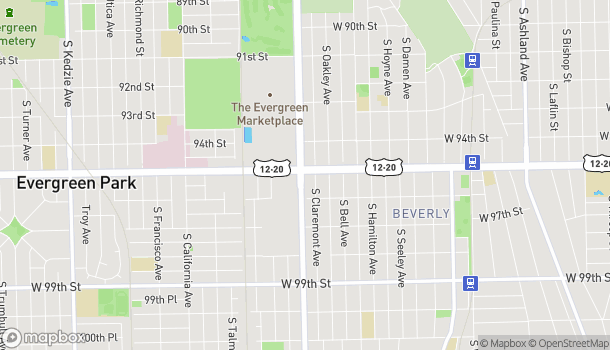 Map of 9505 S Western Ave in Chicago