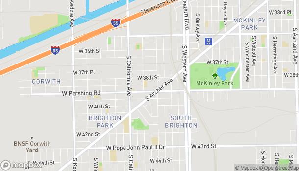Mapa de 2628 W Pershing Rd en Chicago
