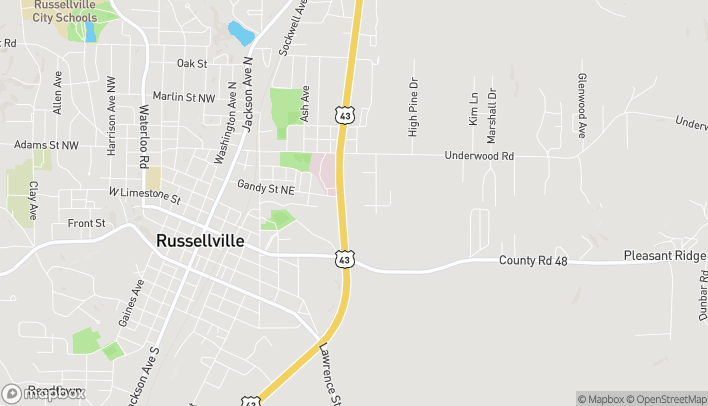 Map of 15046 Hwy 43 in Russellville