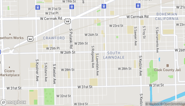 Map of 3735 W 26th St in Chicago