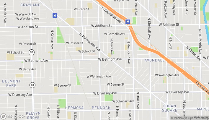 Map of 3955 W Belmont Ave in Chicago