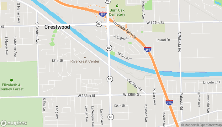 Map of 4756 W. Cal Sag Road in Crestwood