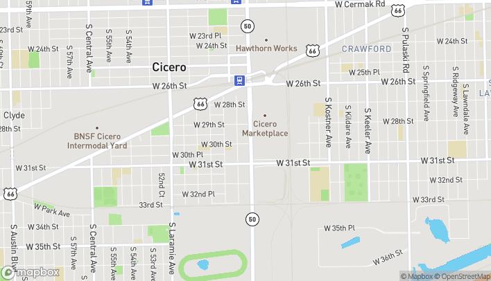 Mapa de 2942 S Cicero Ave en Cicero