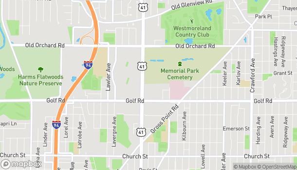 Map of 9725 Skokie Blvd in Skokie