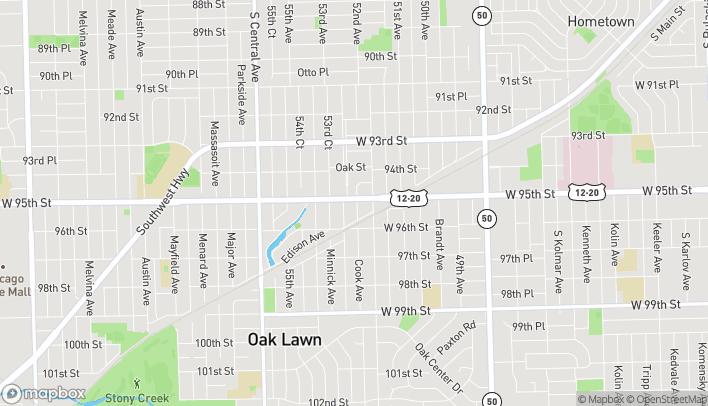 Mapa de 5251 W. 95th Street en Oak Lawn