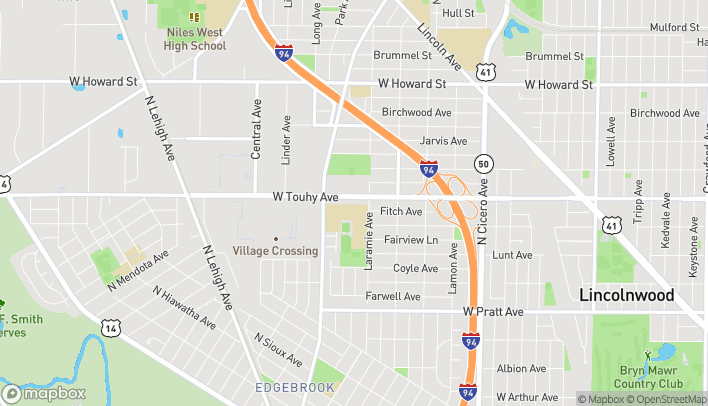 Mapa de 5233 W Touhy Ave en Skokie