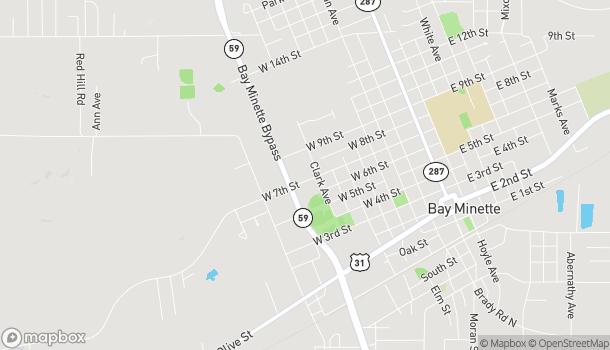 Mapa de 702 McMeans Ave en Bay Minette