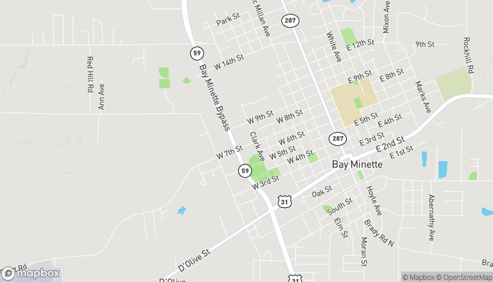 Map of 702 McMeans Ave in Bay Minette