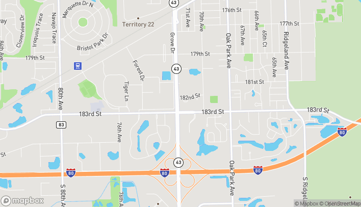 Map of 18219 S Harlem Ave in Tinley Park
