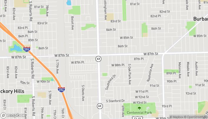 Mapa de 8731 S Harlem Ave en Bridgeview