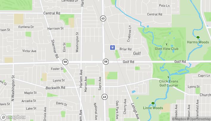 Map of 5 Waukegan Road in Glenview