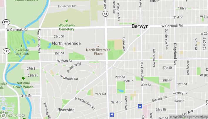 Map of 2518 S Harlem Rd in North Riverside