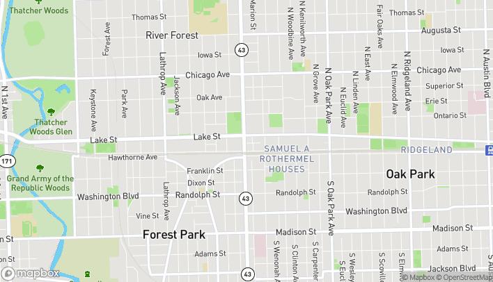 Mapa de 425 N Harlem Ave en Oak Park