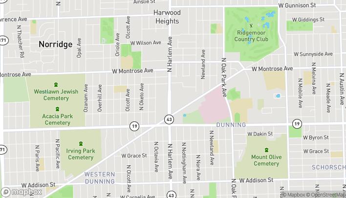Mapa de 4155 1/2 N Harlem Ave en Norridge