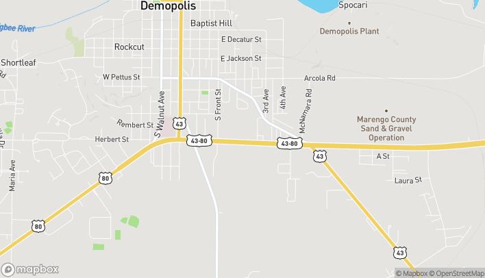 Mapa de 909 US Hwy 80 E en Demopolis