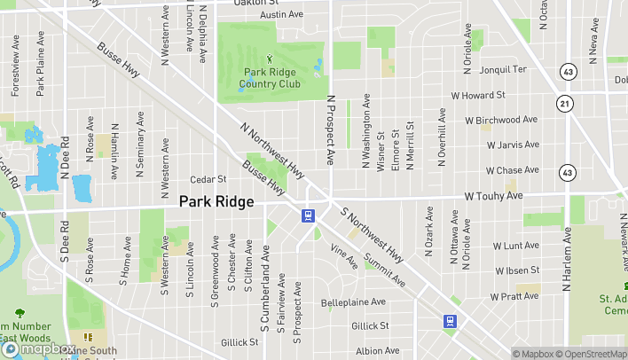Mapa de 123 N Northwest Hwy en Park Ridge