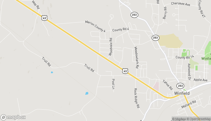 Map of 2471 US Hwy 43 in Winfield