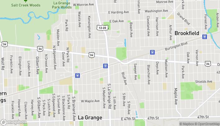 Mapa de 1 N. La Grange Road en La Grange