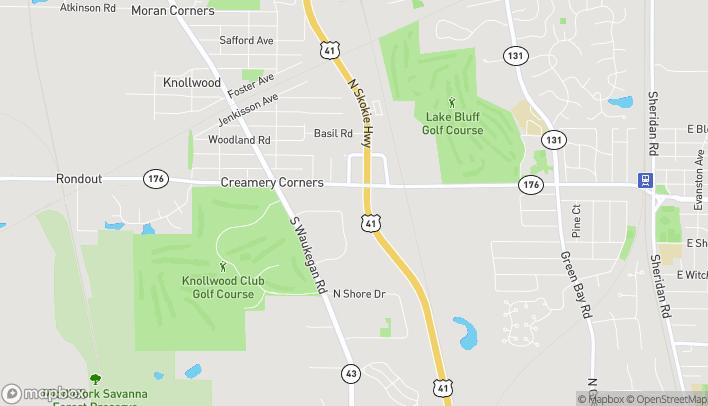 Mapa de 955 Rockland Rd en Lake Bluff