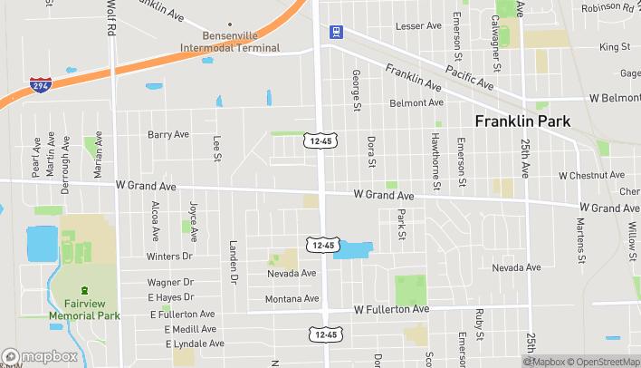 Mapa de 2830 Mannheim Rd en Franklin Park