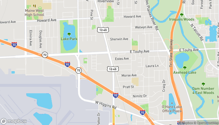 Map of 7024 Mannheim Rd in Rosemont