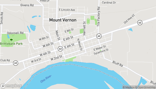 Mapa de 510 E. 4th Street en Mount Vernon